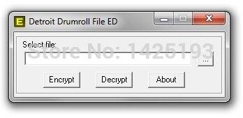 Détroit tambour ENCRYPTOR/DECRYPTOR (éditeur) v0.2