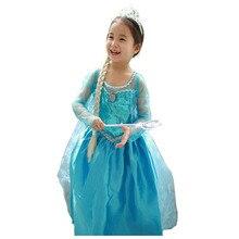 snow queen elsa dress baby girls cosplay dress costume princess anna dress kids clothes halloween christmas - Halloween Anna Costume