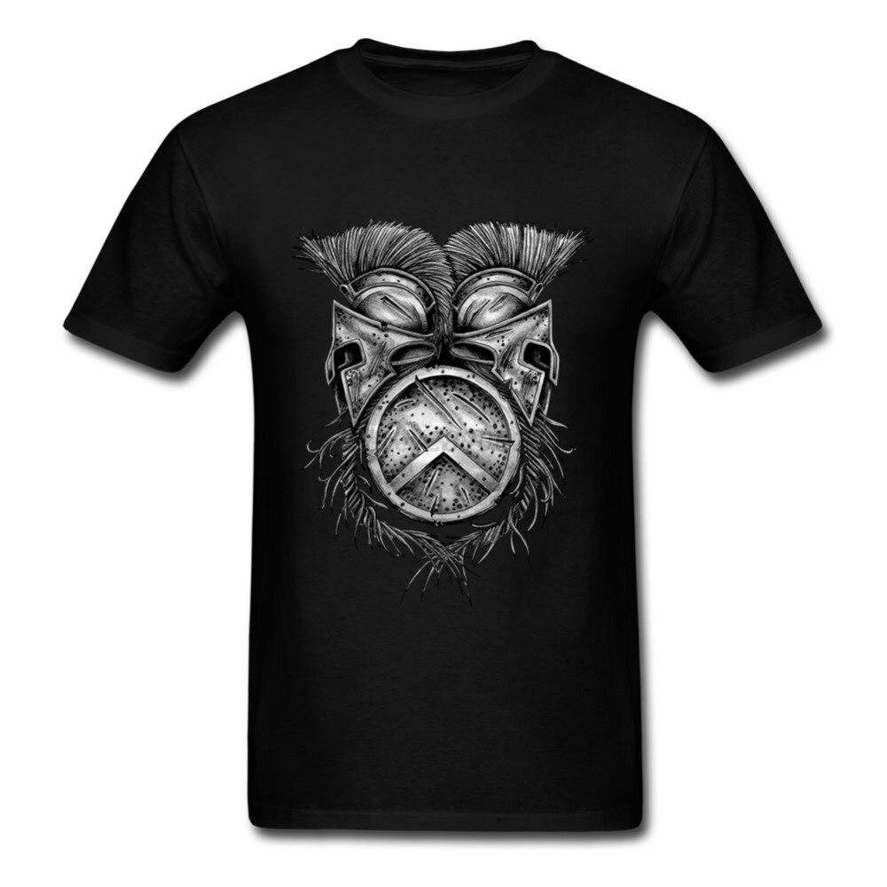 XXXL Summer T Shirts 스파르타 헬멧 라운드 넥 코튼 반팔 티셔츠 New Arrival Men 's Shirt