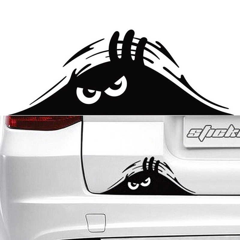Adesivi per auto Mostro 19x7 CM Auto Accessori Per Auto Prodotti Divertente Creativo 3D Occhi Grandi Auto Decal Sticker Nero sbirciare
