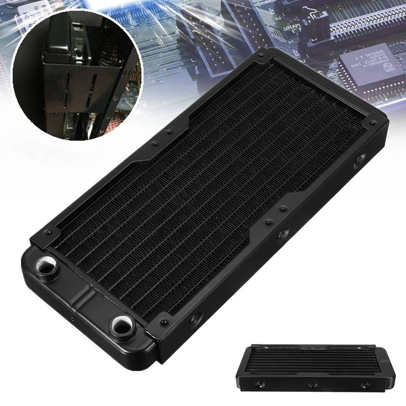 240mm 10 Tubes Aluminum Computer Radiator Water Cooling Cooler For CPU Heatsink Exchanger CPU Heat Sink For Laptop Desktop 120 240 360 480mm water cooling cooler copper radiator heat sink part exchanger cooler cpu heatsink for laptop desktop computer