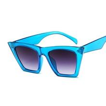Moda śliczne Sexy retro okulary kocie oko kobiety w stylu Vintage marka projektant okrągłe okulary przeciwsłoneczne dla kobiet kolorowe szkła UV400 tanie tanio AKLFHNC Lustro Antyrefleksyjną Dla dorosłych Z tworzywa sztucznego Cat eye Akrylowe 52mm 42mm