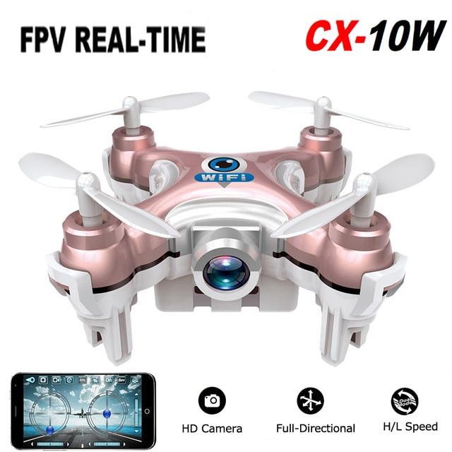 2016 Cheerson CX-10W CX 10W Drone Dron Quadrocopter RC Quadcopter Nano WIFI Drone with Camera 720P FPV 6AXIS GYRO Mini Drone