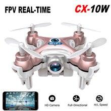 2016 cheerson cx-10w cx 10 w dron drone quadrocopter rc quadcopter Nano WIFI Drone con Cámara 720 P FPV 6 EJES GYRO Mini Drone
