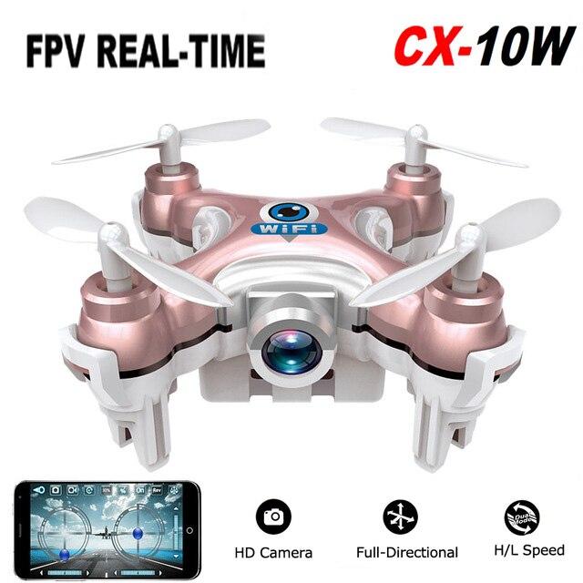 2016 Cheerson cx-10w CX 10 Вт Drone Дрон Квадрокоптер Радиоуправляемый квадрокоптер Nano WI-FI Drone с Камера 720 P FPV-системы 6 оси гироскопа Мини Drone ...