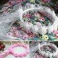 Handmade Flower Wreath Crown Garland Hairbands for Wedding Party Festivals Girl Wreath Headband Kids Children Hair Accessories