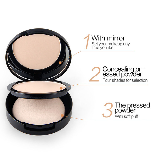 New NICEFACE Makeup Pores Cover Hide Blemish Face Pressed Powder Oil-control Lasting Base Concealer Powder Cosmetics 3