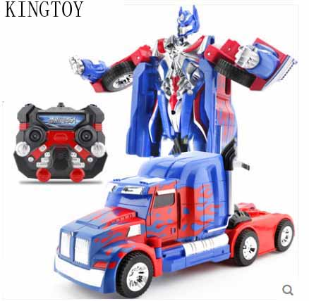 Kids USB Charging RC Car Remote Control Deformed Car Robot Toy