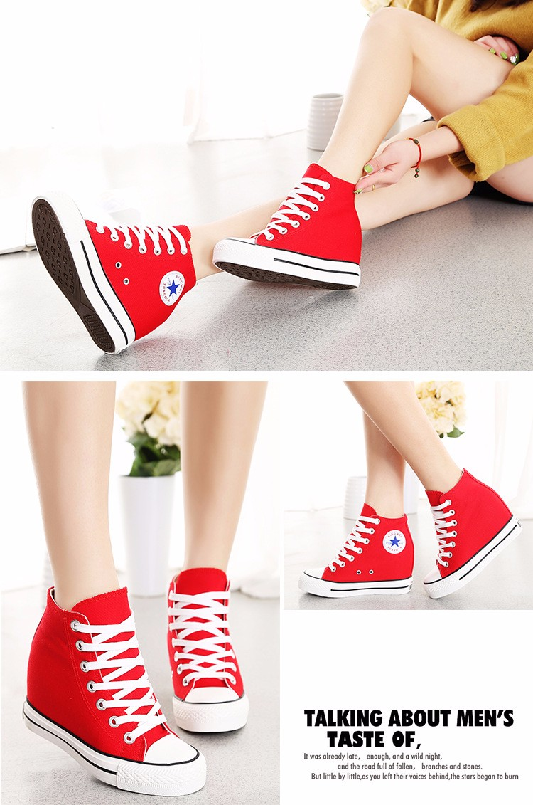 KUYUPP High Top Canvas Women Shoes Espadrilles Spring Autumn Womens Wedges Shoes Lace Up Casual Shoes For Female Sapatilha YD120 (11)