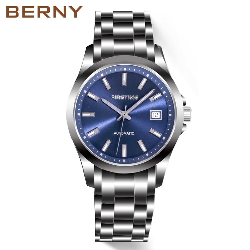 Men Automatic Mechanical Watch Japan Movement Luminous Waterproof Clock Business Wristwatch Supplier Relogio Pulso negocio