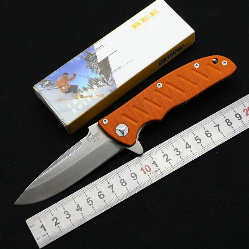 Good quality Enlan EL 01 folding font b knife b font 8cr13mov blade G10 handle outdoor