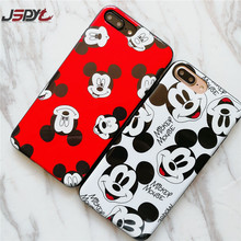 JSPYL Phone Case For iPhone 8 8Plus 7 7Plus Soft IMD Cute Mickey Minnie Case Back Cover For iPhone 6 6s 6Plus 6s Plus Shell Capa