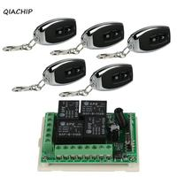 QIACHIP 433Mhz DC 12V Wireless 4CH RF Relay Remote Control Switch Receiver Module 433 Mhz 2