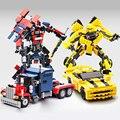 221 шт. Шмель 377 шт. Оптимус Прайм Строительные Блоки Модель Игрушки Робот 2 В 1 Автомобиль Спортивный Автомобиль, которые Поддерживаются Образовательные игрушки