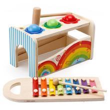 Детские деревянные детские настольные музыкальные игрушки, Обучающие Развивающие игрушки, электрические вибрационные Игрушки