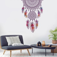 New Wall Sticker Dream Catcher Vinyl Wall Decal Home Decor Feathers Night Symbol Indian Bedroom Living Room Dream Catch Stickers colorful dream catcher flying feather wall stickers symbol home decor bedroom accessories living room decal mural art poster