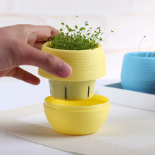 New Plastic Modern Flower Pot Home Decor Plant Pots Flowerpot