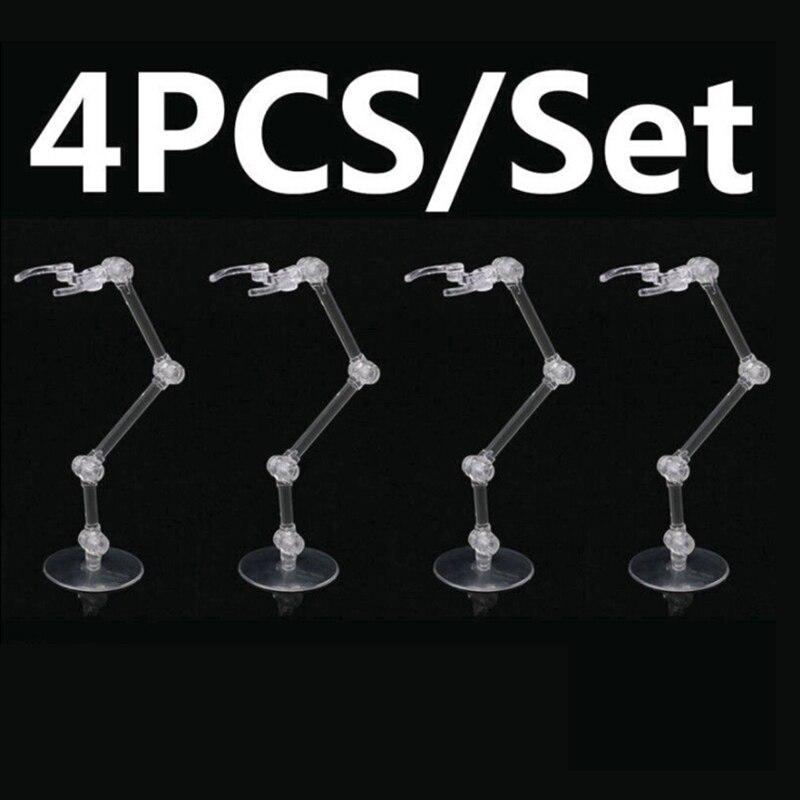 4pcs Action Figure Base Stand Holder For Bandai HG RG SD Gundam Model Durable E