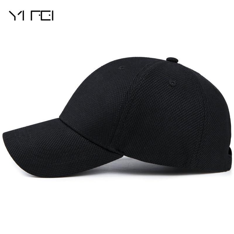 YIFEI Sun Visor Bone Casquette Gorras 2018 New Polo Hat Casual Quick Dry Snapback Men Full Cap Hat Baseball Running Cap цена 2017