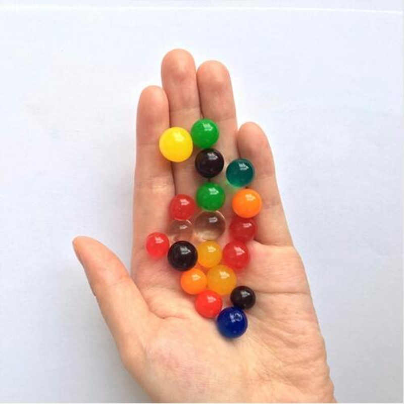 7-8pcs/lot 6-8mm Big Crystal Soil Mud Hydrogel Gel Kids Toy Water Beads Growing Up Water Balls Wedding Home Flower Decoration C
