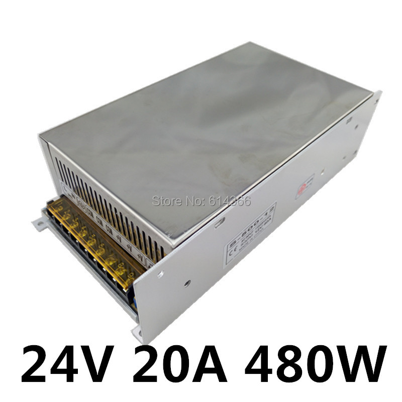 New Arrival 24V 20A 480W Switching Power Supply Driver for LED Strip AC 100-240V Input to DC 24V 1200w 48v adjustable 220v input single output switching power supply for led strip light ac to dc