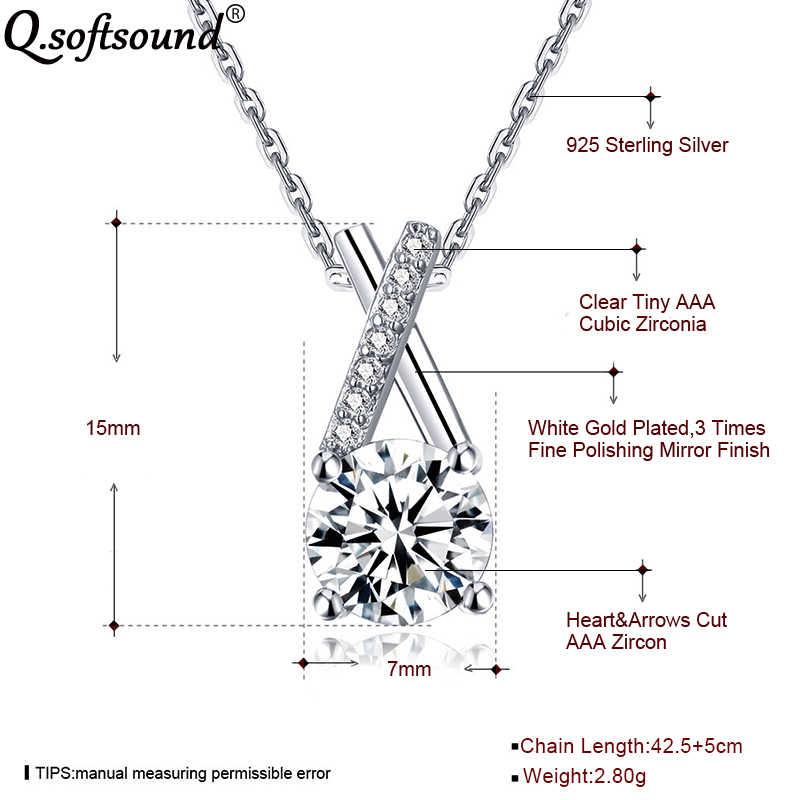 Serca i strzały 1Ct CZ kamień wisiorek naszyjnik kobiety modny ze srebra próby 925 biżuteria AAA cyrkonia Kolye Bijoux kołnierz Mujer QN191