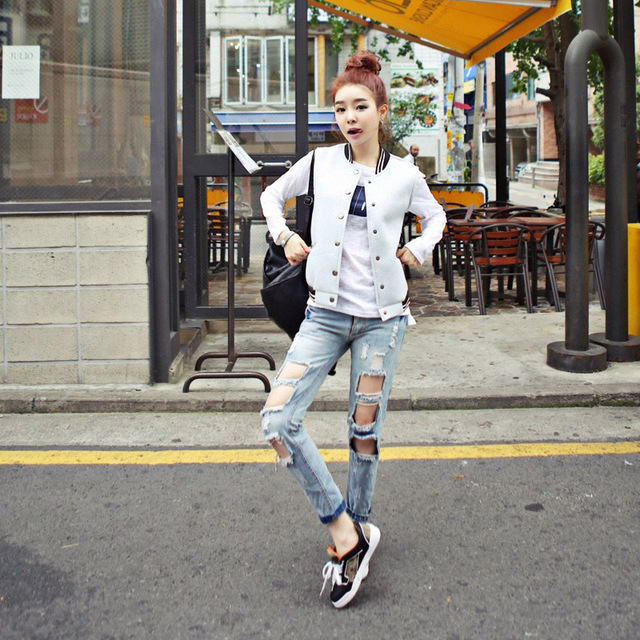 81ccbed6ab5 2018 New Fashion Summer Style Women Jeans ripped Holes Loose Pants Jeans  Slim vintage boyfriend jeans for women