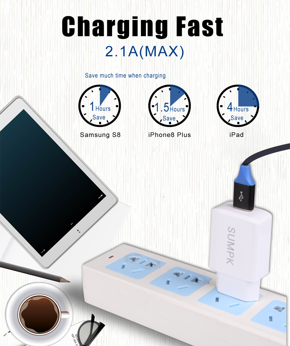 SUMPK 5V2.1A USB Dinding Charger UNI EROPA US plug Universal Ponsel - Aksesori dan suku cadang ponsel - Foto 4