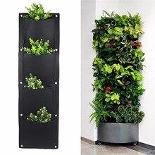4 And 7-Pocket Felt Vertical Gardening Flower Pots Planter H