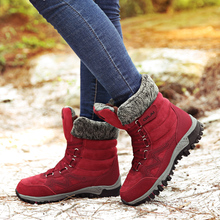 New Women Boots High Quality Leather Suede Winter Boots Shoes Woman Keep Warm Waterproof Snow Boots Botas mujer