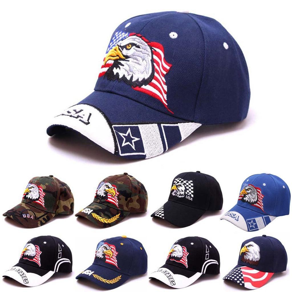 2019 Summer Brand New Cotton Mens Hat Women Men Unisex Summer Outdoors Eagle Visor Baseball Cap Adjustable Hat 7.12  0.5(China)