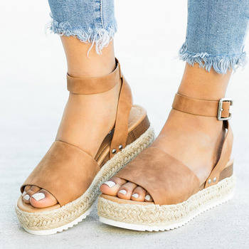 Dropshipping Women Sandals Soft Platform Sandals With Wedges Shoes Women High Heels Sandals Summer Shoes 2019 Chaussures Femme