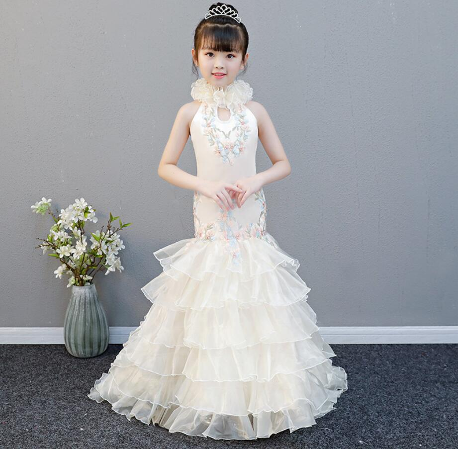 Filles cendrillon habiller Cosplay Costumes enfants manches bouffantes broderie vêtements enfant noël anniversaire princesse robes HW2324