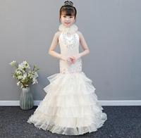 Girls Cinderella Dress up Cosplay Costumes Kids Puff Sleeve Embroidery Clothes Child Christmas Birthday Princess Dresses HW2324