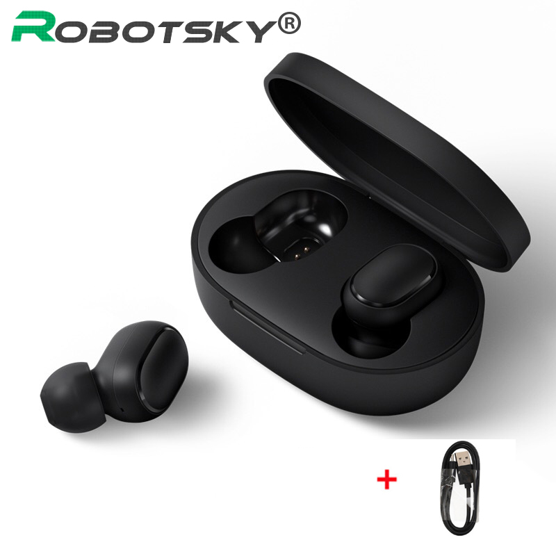 <font><b>A6S</b></font> <font><b>TWS</b></font> Bluetooth 5.0 Headsets <font><b>Wireless</b></font> Earbuds Earphone Noise Cancelling Mic Waterproof for Huawei Xiaomi for iPhone image