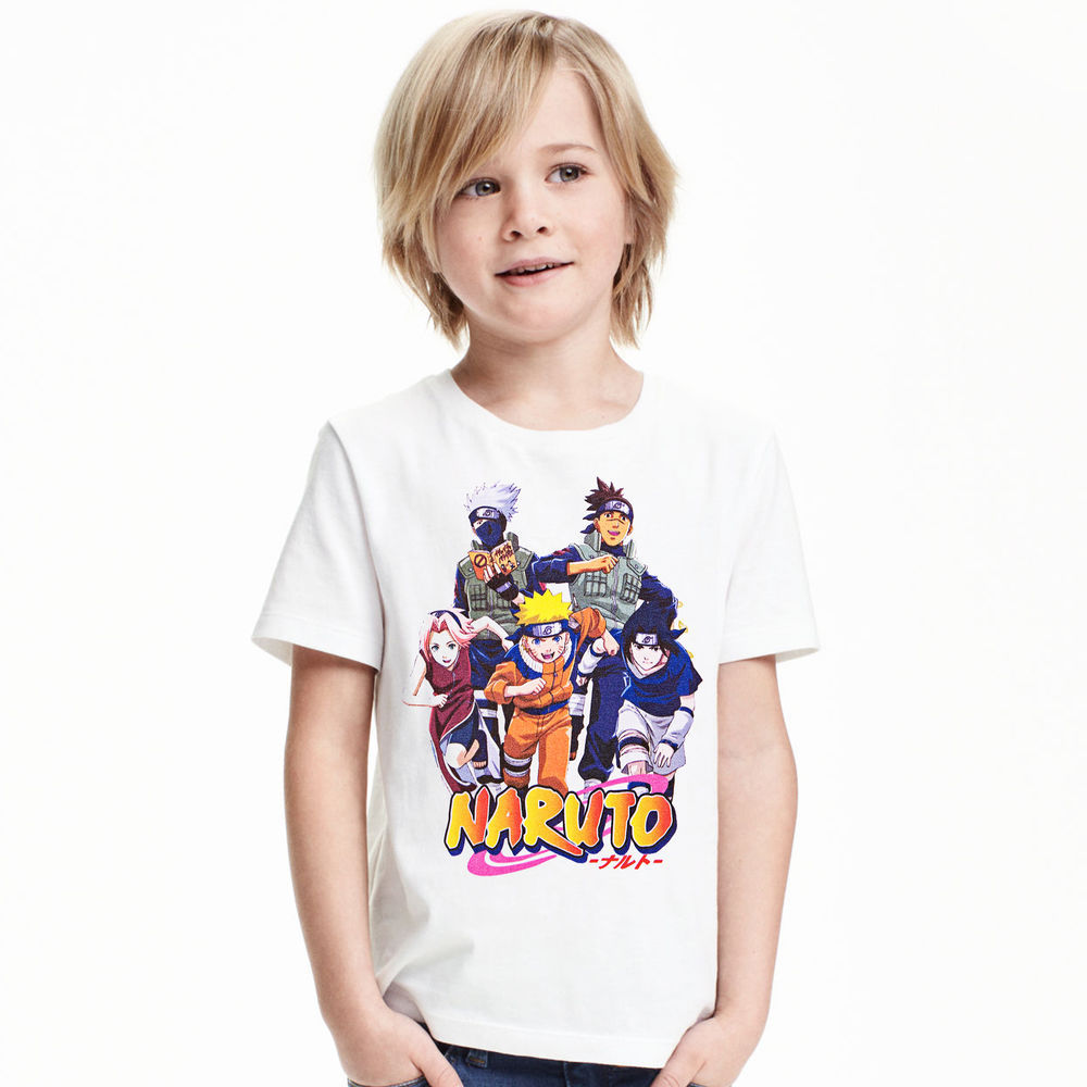 Boys Tops T-Shirt Toddler Girls Baby Kids Children's Cartoon Naruto Outfits Printed