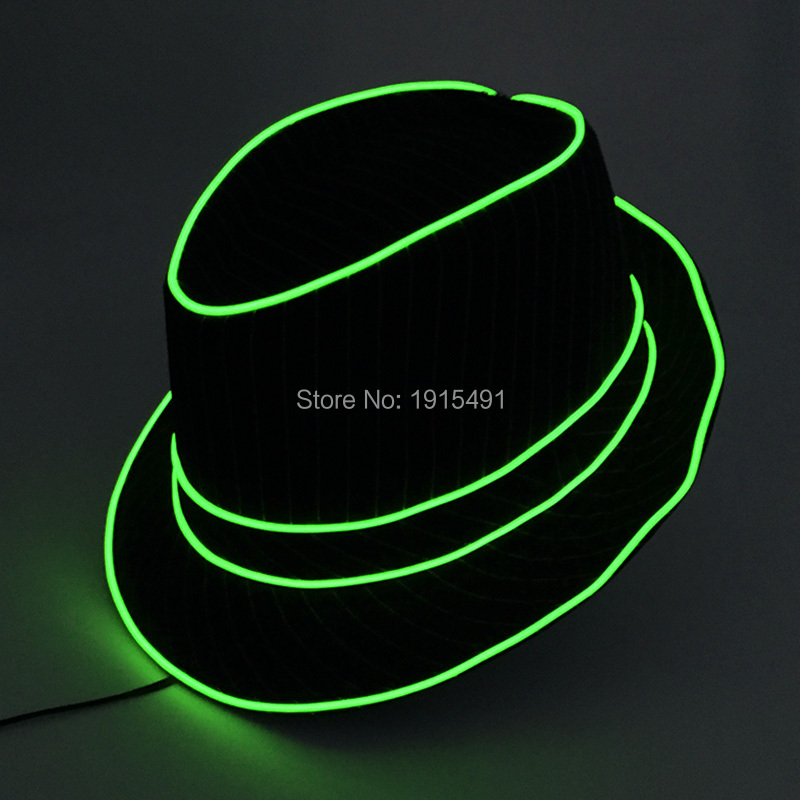 Free Shipping Neon Led Bulbs Night Lamp Light Up Party Topper Cap Fancy Dress Accessory EL Wire Fluorescent Hat for Wedding 50pcs neon led bulbs crazy masquerade glasses light up el wire glowing hip hop eyewear as concert fluorescent party supplies
