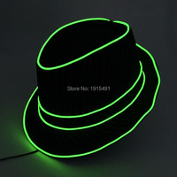 Free Shipping Neon Led Bulbs Night Lamp Light Up Party Topper Cap Fancy Dress Accessory EL