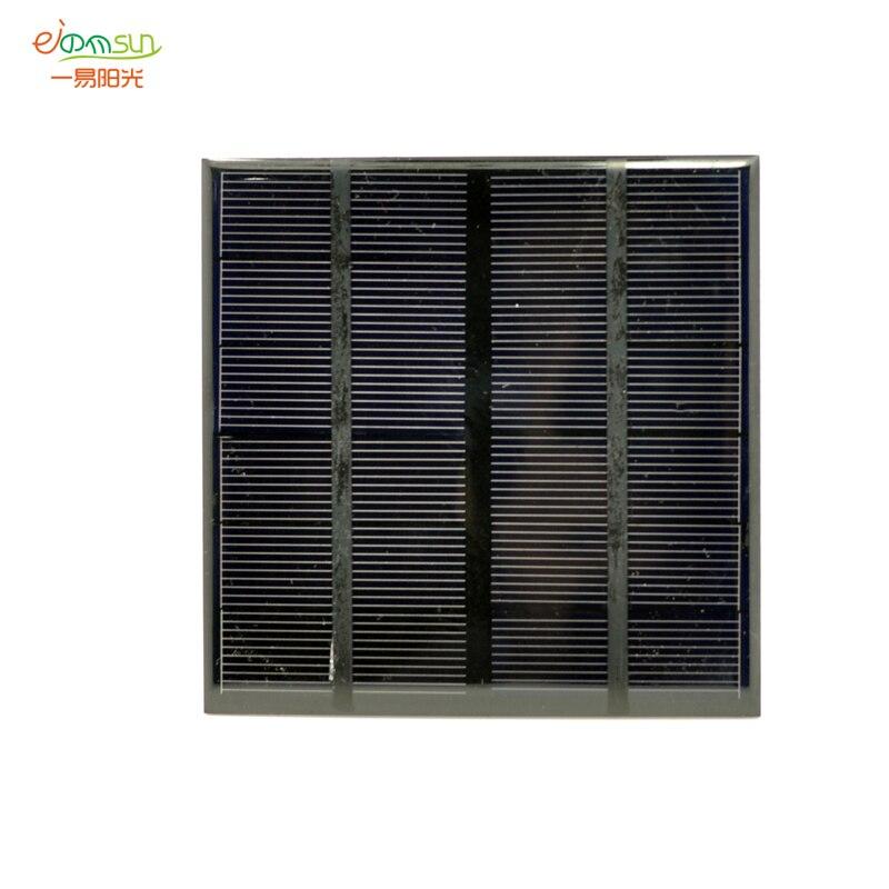 лучшая цена monocrystalline silicon Epoxy solar panel 5V6V/2W Module kits Mini Solar Cells For Charging Cellphone Battery 11.5mmx11.5mm