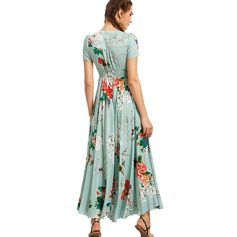 Летнее женское богемное платье hepburn винтажный Макси сарафан