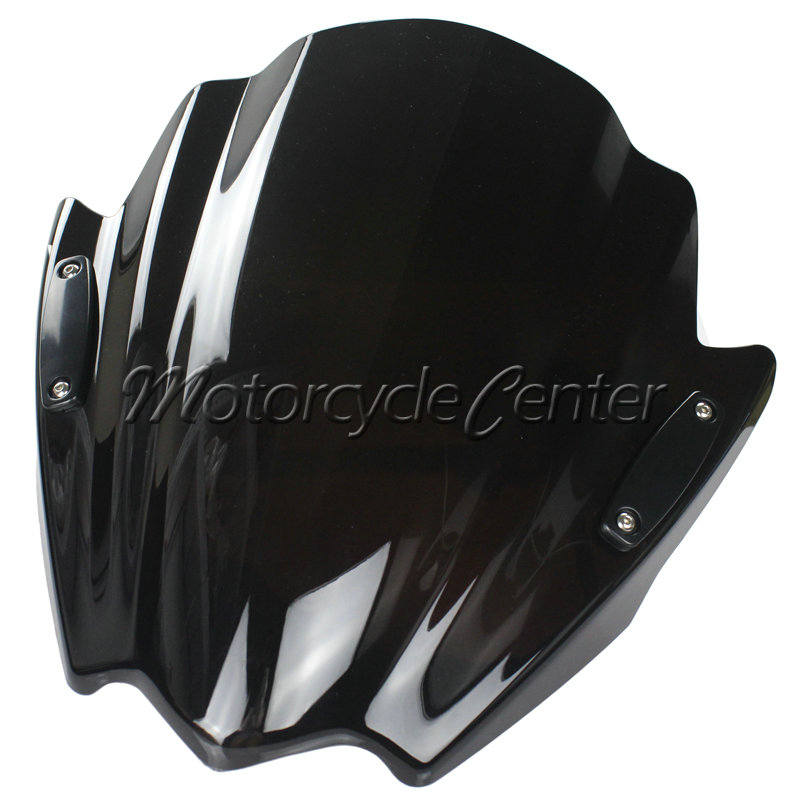 Motorcycle Street Bikes Wind Deflectors Windshield Windscreen For 2013-2014 Yamaha FZ16 FZ16S 2011 FZ-S16 Dark Smoke 11 13 14 yomt motorcycle motorbike windshield smoke race screen for yamaha tmax530 2012 2014 2013 12 13 14 windscreen