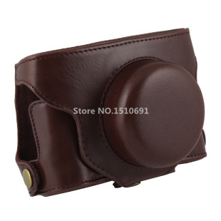 New PU Leather Case Bag Cover for Fujifilm Fuji Finepix X30 Camera Strap Coffee