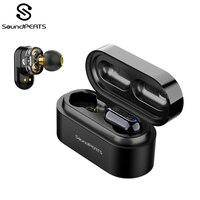 SoundPEATS True Wireless Earbuds Bluetooth 5.0 in Ear Stereo IPX6 Earphones Dual Dynamic Drivers Bluetooth Sweatproof Headset