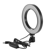 Protable Dimmable LED Studio Camera Ring Light Photo Phone Video Light Annular Lamp Ring Fill Light(China)