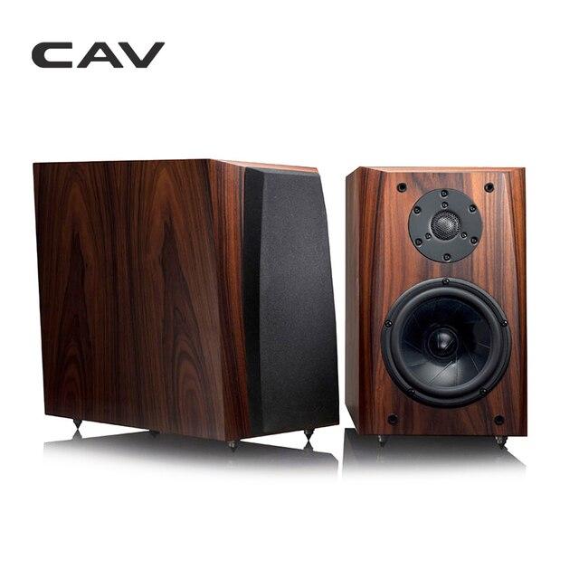 CAV FL-30 High End Bookshelf Speaker Full Handmade Wood Veneer High Fidelity HI-FI Speaker Professional Wooden HIFI Speakers