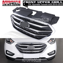 Auto Styling OEM Echtes Kühler Chrome Fronthaube Grille Racing Grills Für Hyundai Tucson ix35 2010 2011 2012 2013 2014 2015