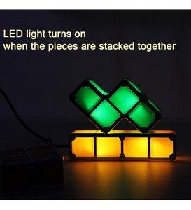 Image 3 - DIY Tetris Puzzle Light Stackable LED Night Light Constructible Block Desk Lamp 7 Colors Novelty Toy Children s Gift