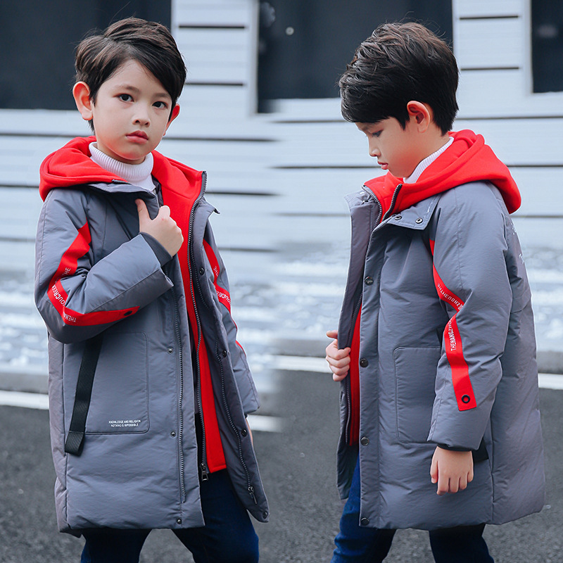Russian Children Winter Jackets For Boys Overcoat 2018 Casual Fashion Hooded Thick Warm Long Down Coat Teenage Kids Parkas fashion long parka kids long parkas for girls fur hooded coat winter warm down jacket children outerwear infants thick overcoat