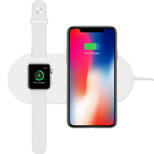 2 in 1 Mobile Phone Wireless Charger for Phone X 8 8 Plus Samsung S8 S7 for Apple Watch USB Wireless Fast Charging Phone Adapter