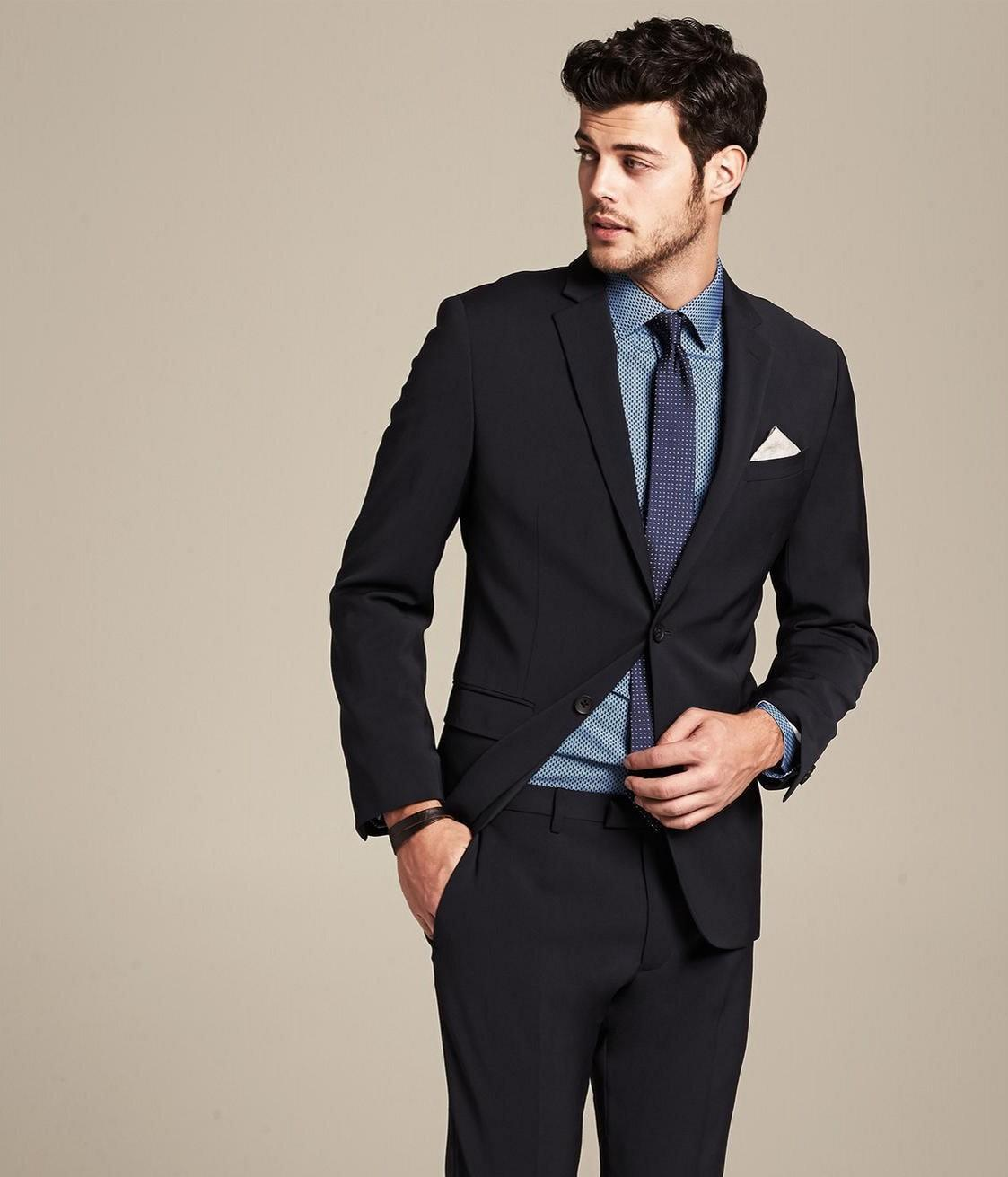 2015 new arrival suit black man pants formal wear for men